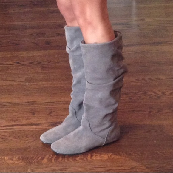 Magnético Masculinidad Adelaida  Steve Madden Shoes | Steve Madden Tianna Grey Suede Flat Boots | Poshmark